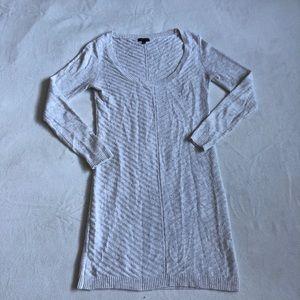 Dynamite creme & grey knit dress